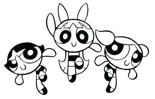 500x321 Powerpuff Coloring Pages