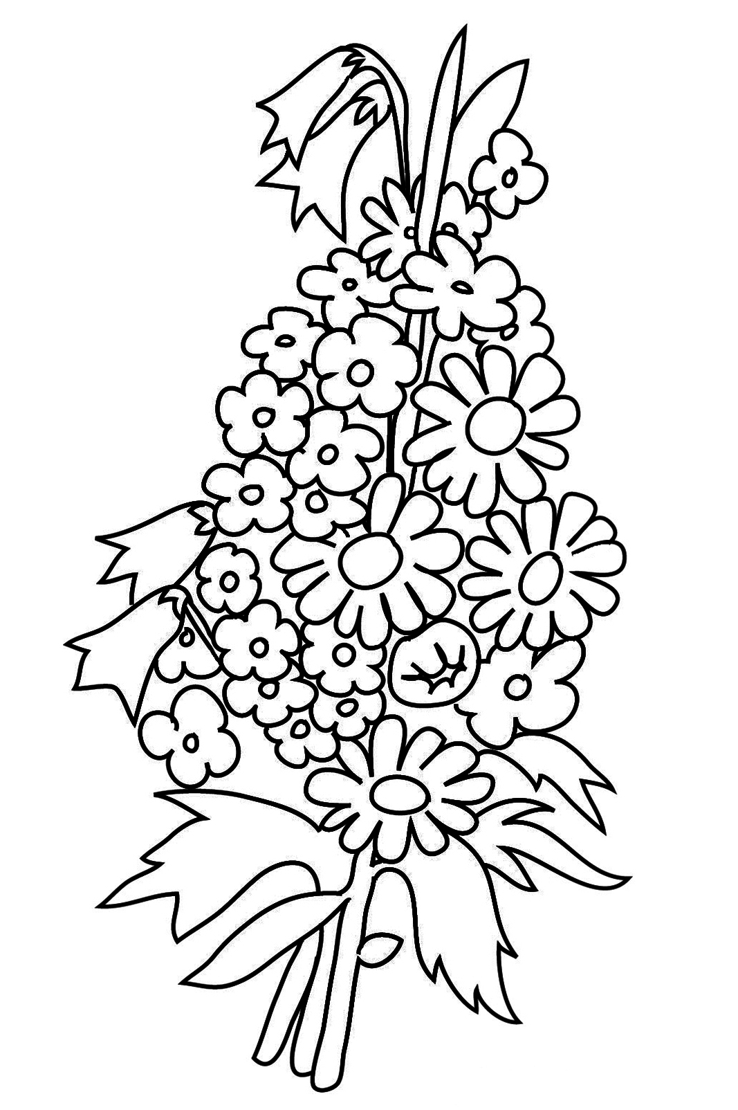 1067x1604 New Printable Flower Bouquet Coloring Pages Gallery Printable