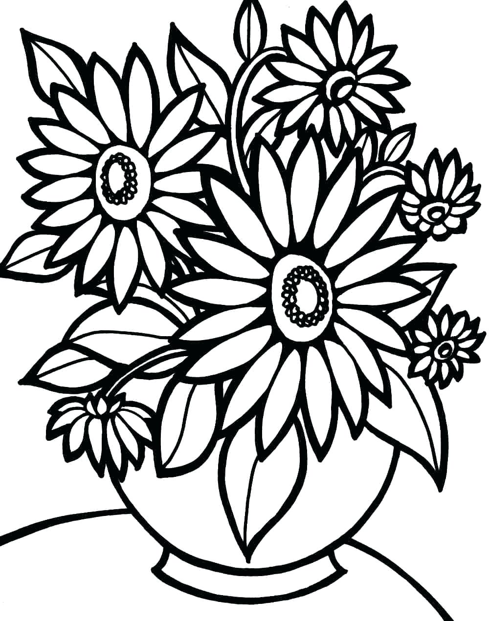 1000x1271 Coloring Pages Printable Flower Coloring Pages Cute Inside Color