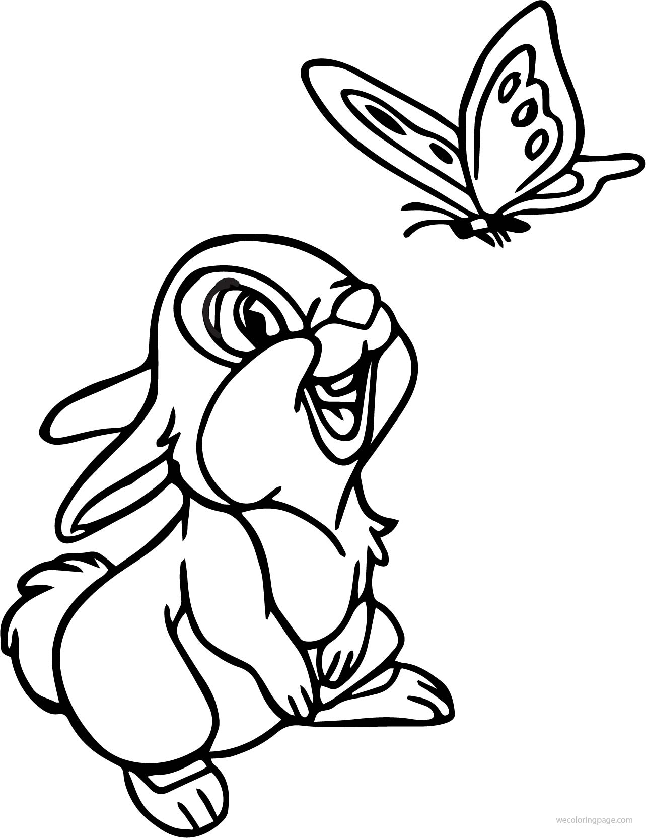 Butterfly Cartoon Coloring Pages