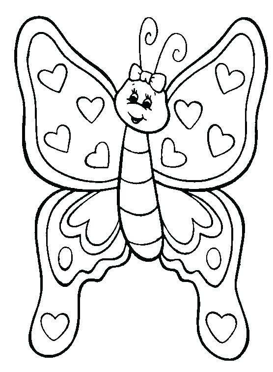 556x756 Color Page Butterfly Free Coloring Pages Butterfly Coloring Page