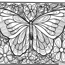 268x268 Coloring Pages Of Butterflies For Adults Give The Best Coloring