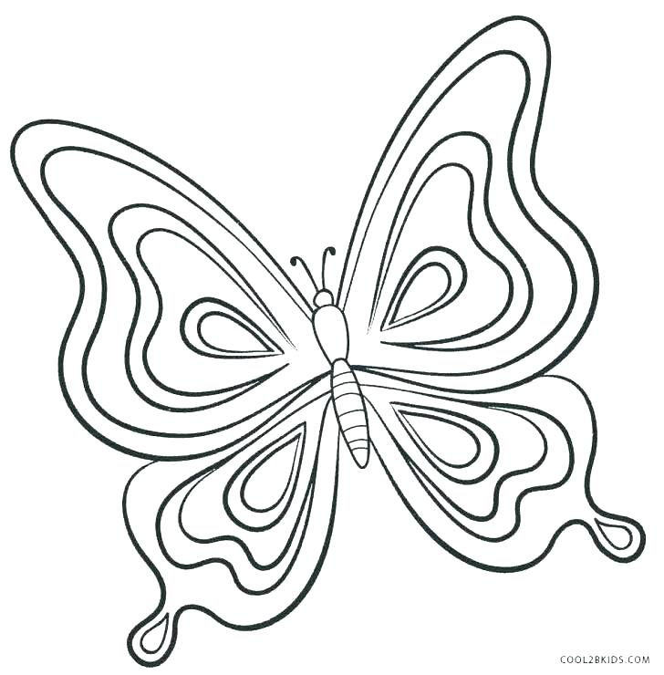 728x740 Printable Butterfly Pictures Free Butterfly Coloring Pages