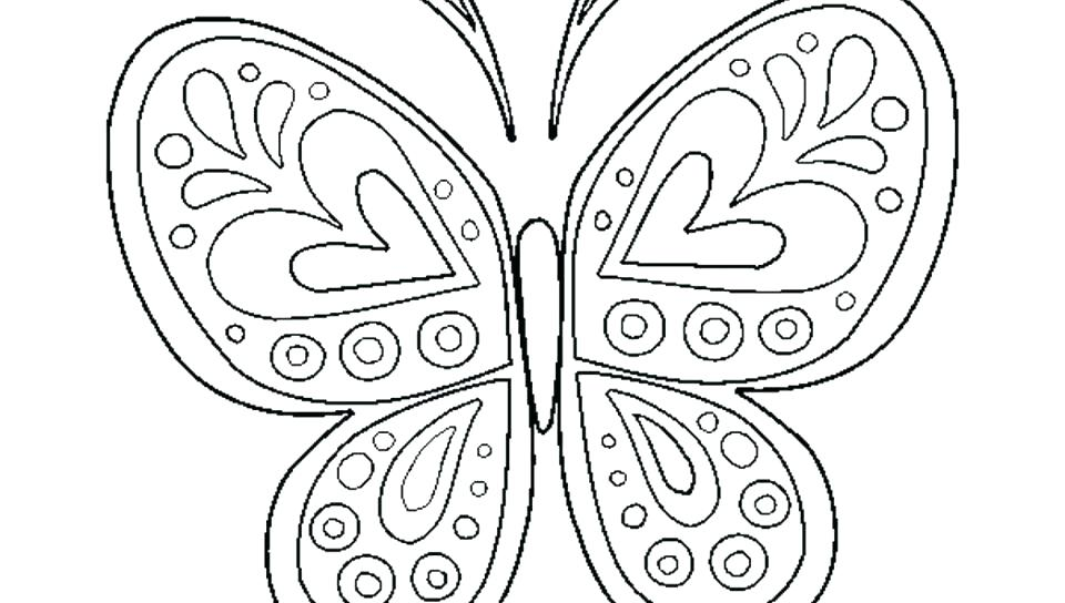 960x544 Butterfly Coloring Pages Monarch Butterfly Coloring Pages And Best