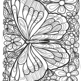 268x268 Butterfly Coloring Page For Adults Archives