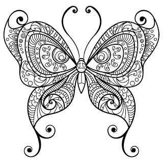 320x320 Butterfly Coloring Pages