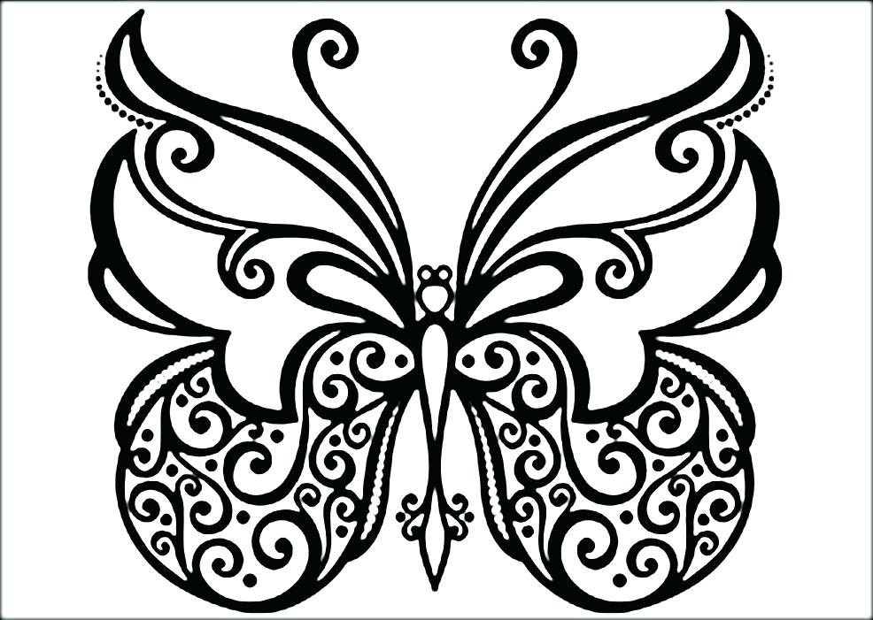 986x701 Coloring Pages Butterflies Butterflies Coloring Free Coloring