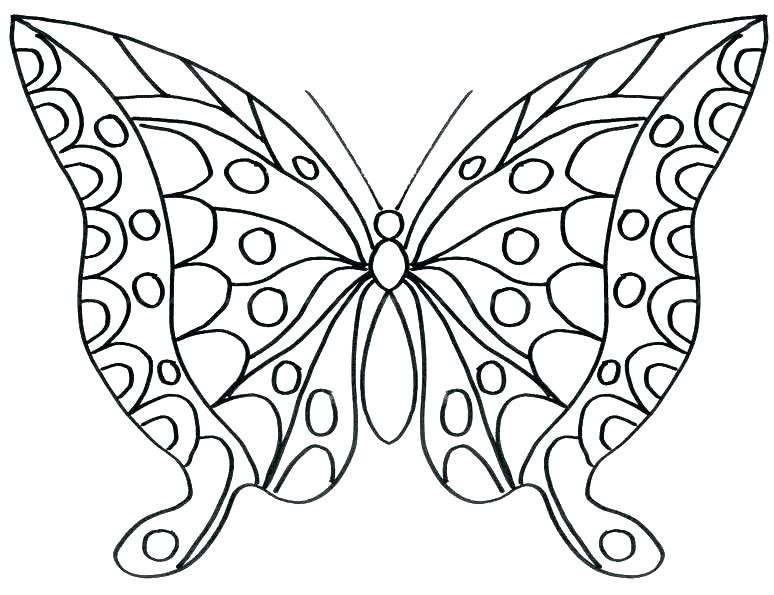 774x595 Cute Butterfly Coloring Pages Coloring Pages Butterflies Cute