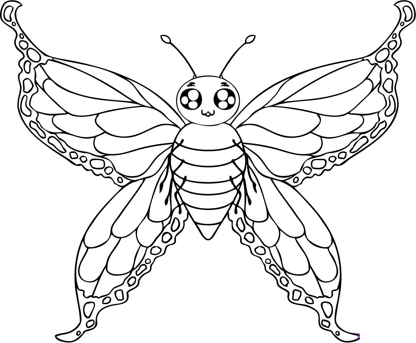 1348x1112 Free Printable Butterfly Coloring Pages For Kids Printable