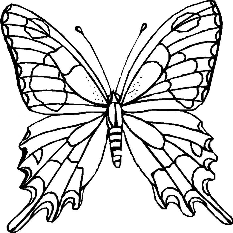 940x942 Printable Butterflies Coloring Pages Coloring Page For Kids Kids