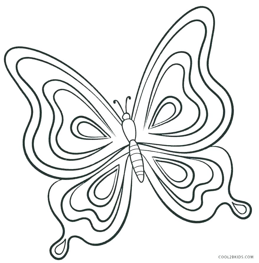 878x893 Butterfly Coloring Pages For Kids Butterfly Wings Coloring Pages