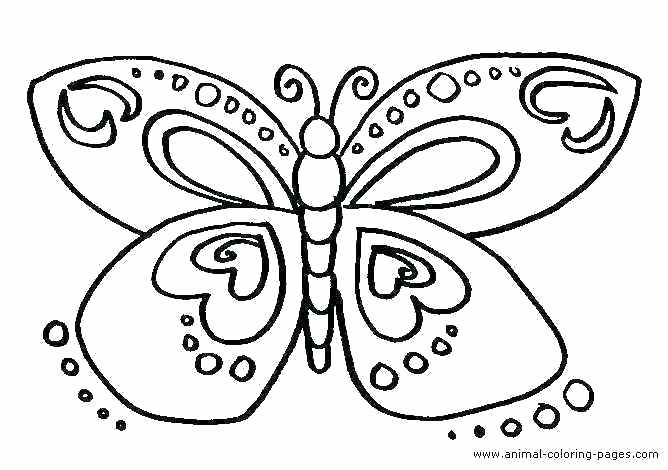 668x470 Butterfly Coloring Pages Kindergarten Butterfly Color Sheets