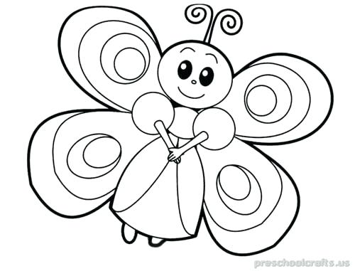 500x381 Drawing Of A Butterfly For Coloring Free Printable Animals