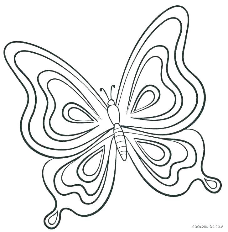 728x740 Free Butterfly Coloring Pages Printable Butterfly Pictures Free
