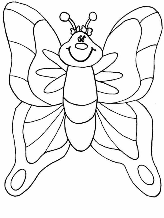 675x900 Kids Butterfly Coloring Pages For Preschool