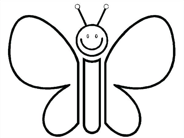600x450 Simple Butterfly Coloring Pages Butterfly Color Pages Medium Size