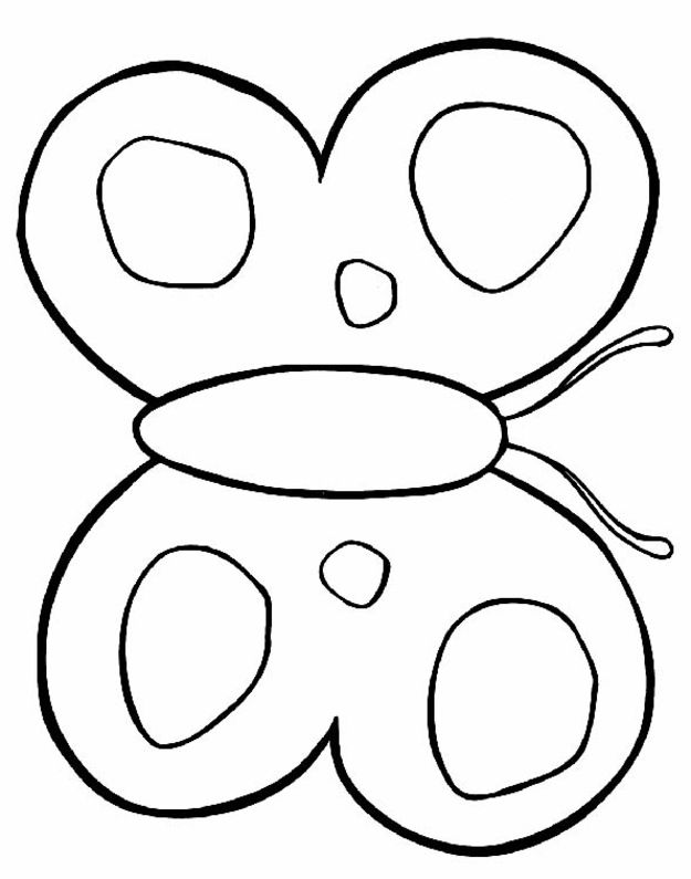 625x795 Butterfly Coloring Pages