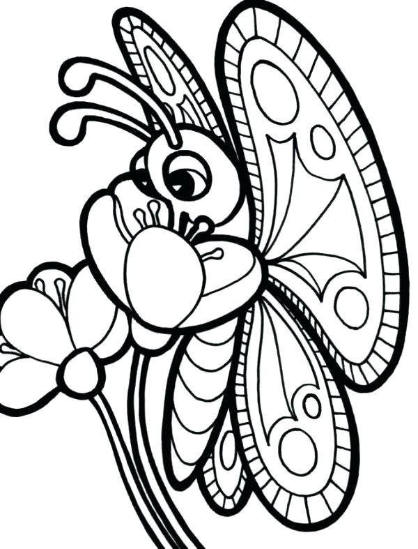 600x787 Butterfly Coloring Pages Cartoon Butterfly Coloring Pages