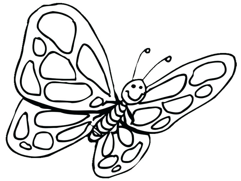 805x604 Butterfly Coloring Pages For Toddlers Butterfly Coloring Page