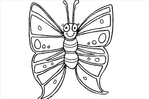 600x400 Childrens Coloring Pages Butterfly Coloring Pages Childrens