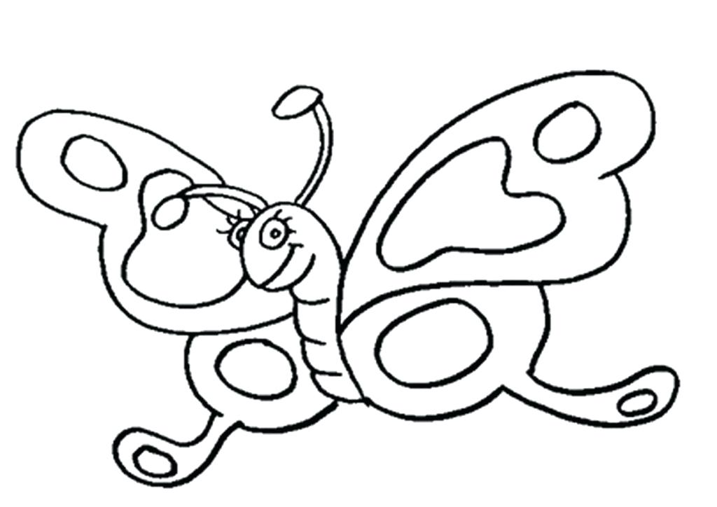 1024x724 Cute Butterfly Coloring Pages Free Printable Butterfly Coloring