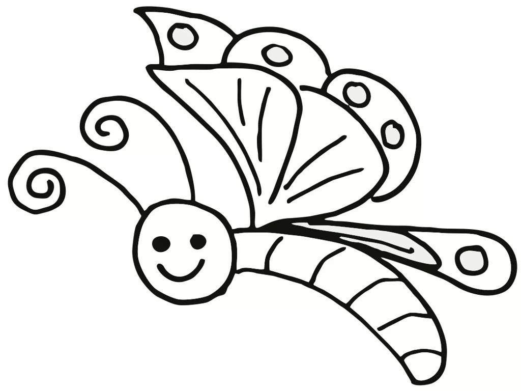 1024x768 Free Printable Butterfly Coloring Pages For Kids In Easy