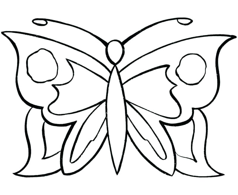 800x653 Simple Colouring Pages For Toddlers Butterfly Coloring Template