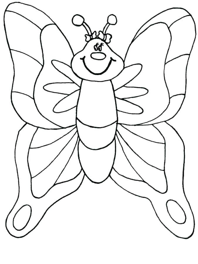 675x900 Toddler Color Pages Butterfly Coloring Pages For Toddlers Coloring