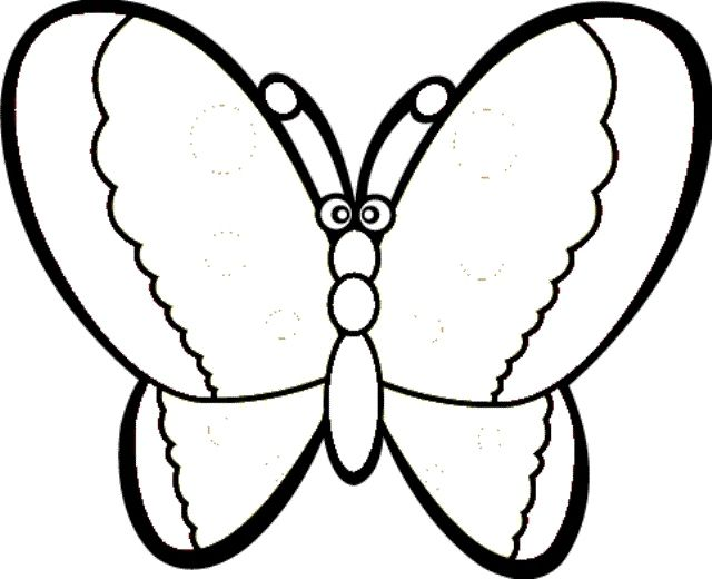 640x520 Butterfly Coloring Pages Kindergarten Coloring Pages