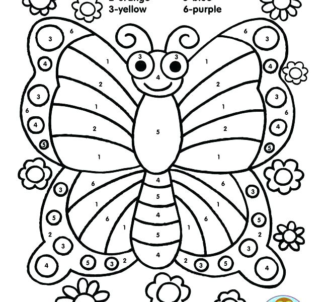 650x600 Butterfly Coloring Pages For Toddlers