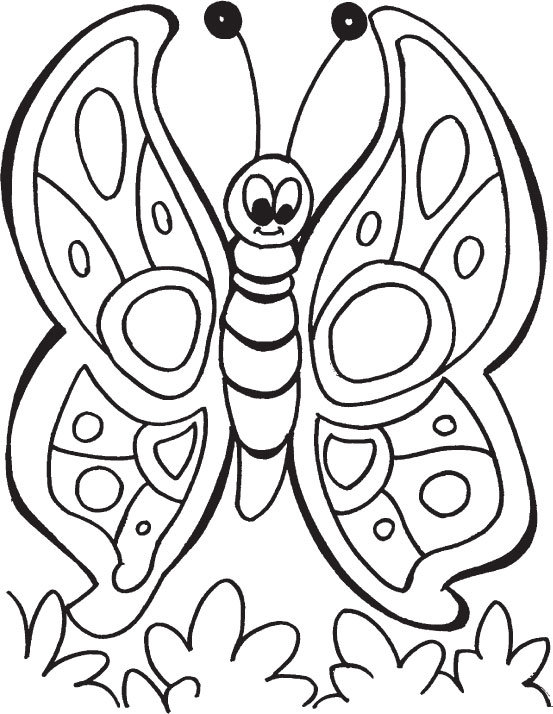 553x714 Butterfly Coloring Pages For Kindergarten