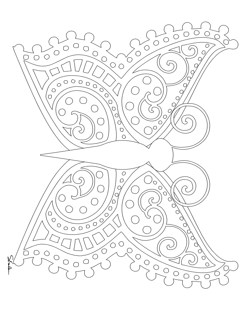 Butterfly Design Coloring Pages At Getdrawings Com Free For