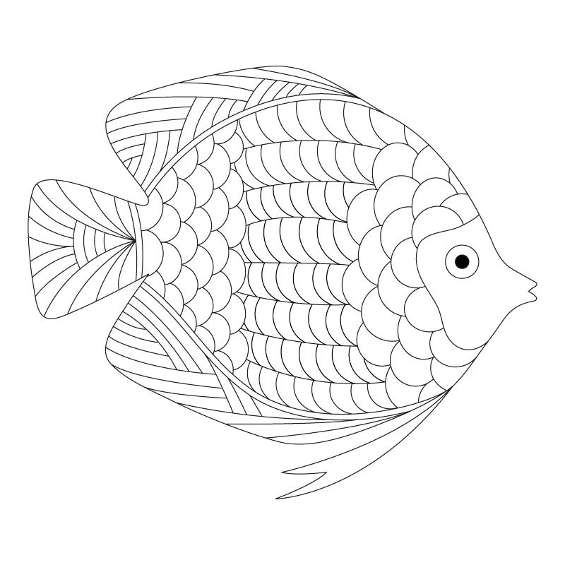 800x800 Daily Coloring Pages Fish Coloring Pages Printable Free Printable