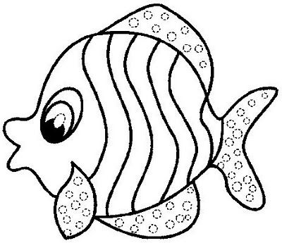 400x345 Fish Coloring Pages