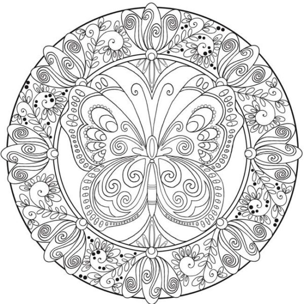 Butterfly Mandala Coloring Pages At Getdrawings Free Download