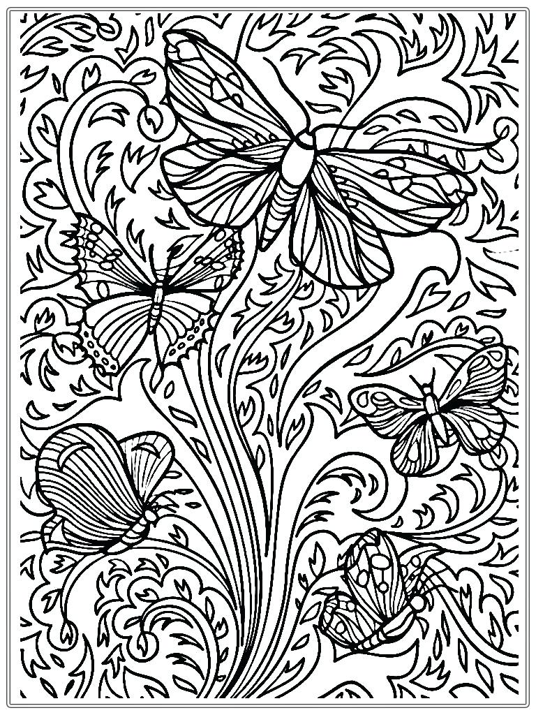 768x1024 Unbelievable Printable Butterfly Mandala Coloring Pages With Color