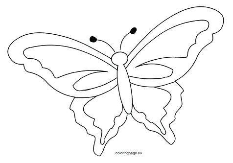 476x333 Butterfly Outline Colouring Page Coloring Template Image Images