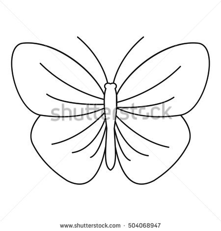 450x470 Butterfly Outline Pictures Coloring Page