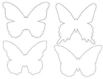 400x309 Butterfly Template Printable