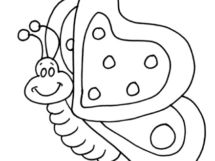 440x330 Butterfly Outline Coloring Page, Butterfly Outline Coloring