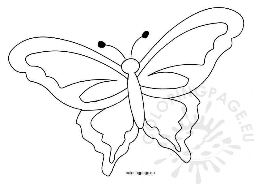822x595 Printable Spring Butterfly Template Coloring Page