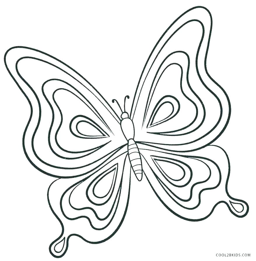 878x893 Butterfly Cutout Template Butterfly Shapes Printable Templates