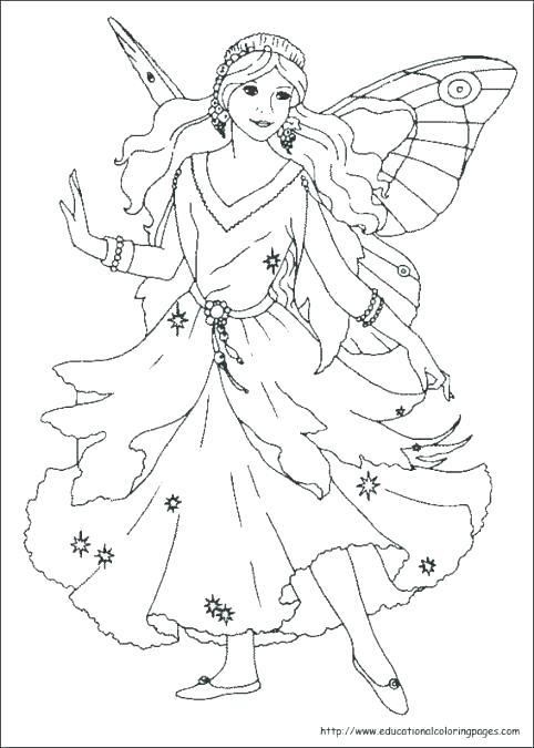 Butterfly Princess Coloring Pages At Getdrawings Com Free For