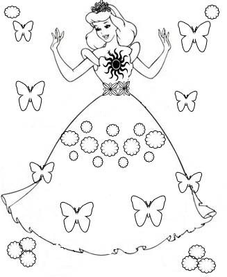 Butterfly Princess Coloring Pages at GetDrawings.com   Free for ...