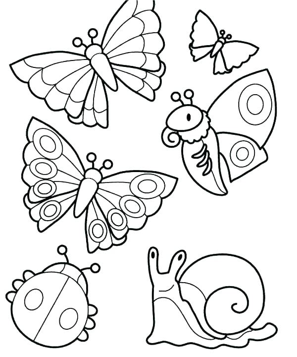 600x720 Coloring Page Of Butterfly Color Page Butterfly Coloring Butterfly