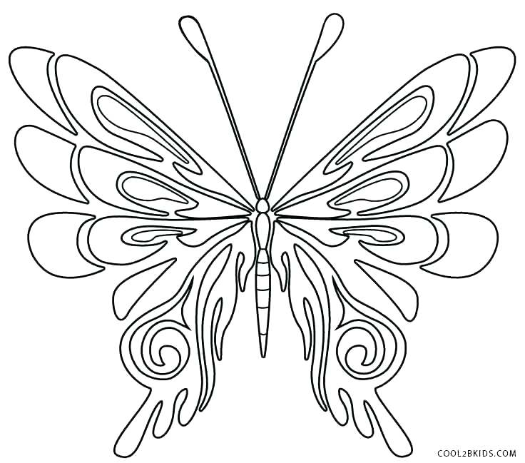 736x649 Coloring Pages Of Butterflies Butterfly Wings Coloring Pages