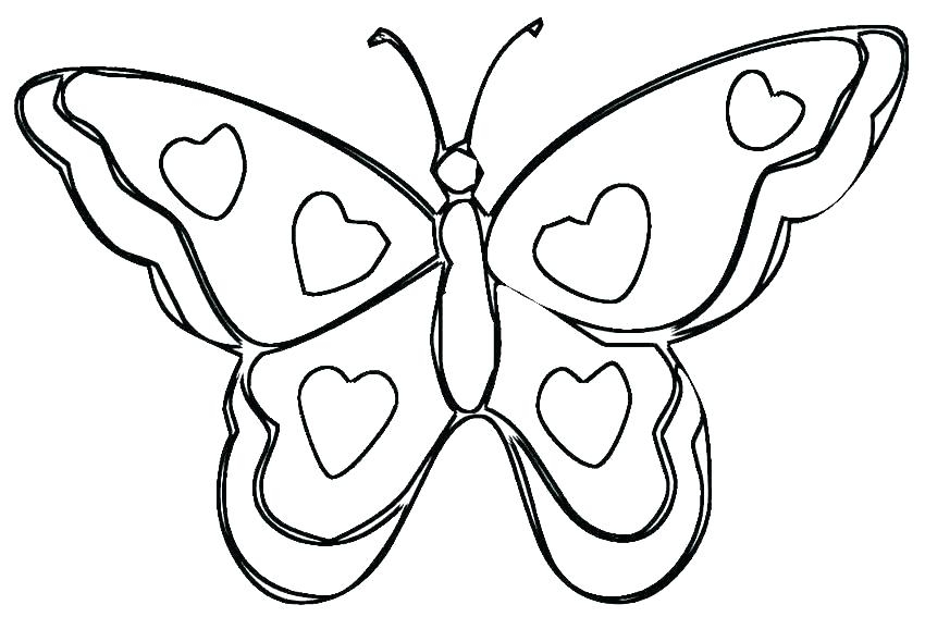 850x567 Colouring Pages Butterfly Wings Coloring Pages Hearts Heart