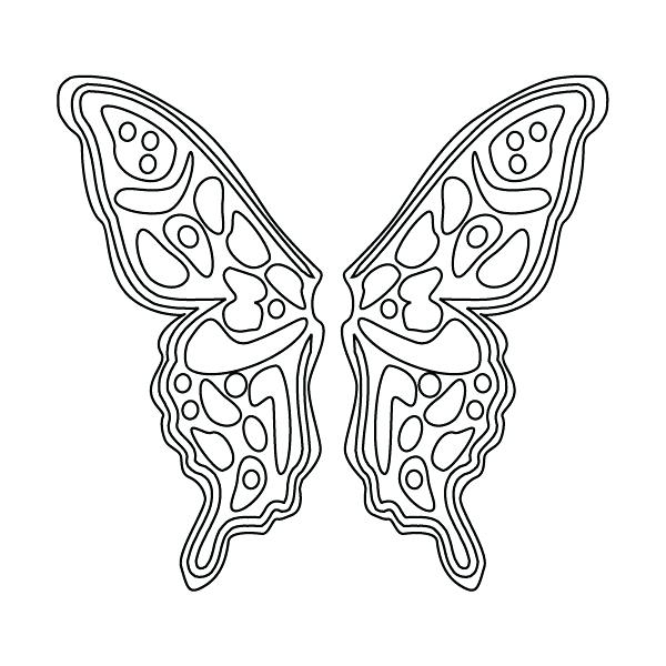 600x600 Colouring Pages Butterfly Wings Fairy Wings Coloring Pages Fairy