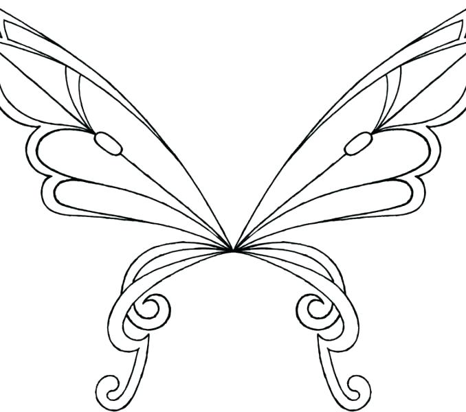 678x600 Fairy Wings Coloring Pages Fairy Wings Colouring Pages
