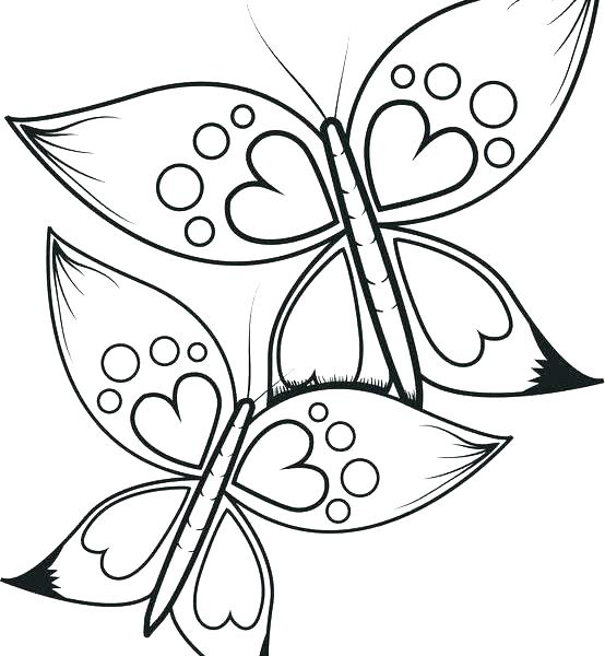 554x600 Angel Wings Coloring Pages